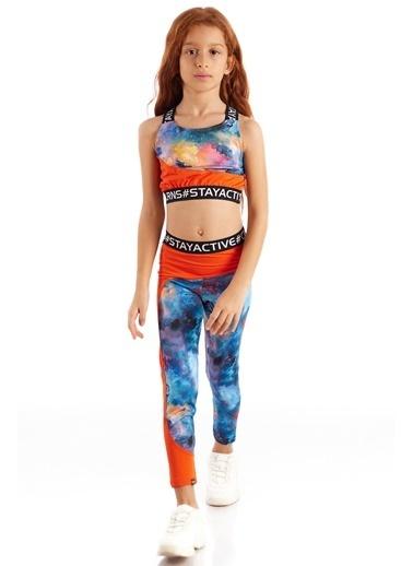 Colorinas Stay Active Crop Atlet   Oranj